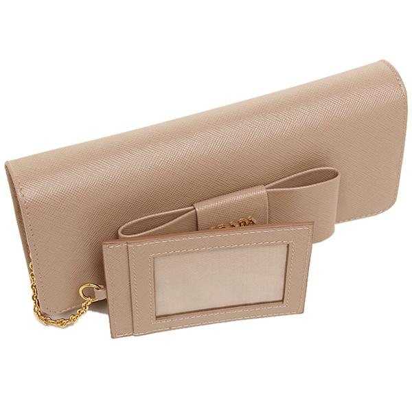 9a99a83530f ... Prada wallet Lady's PRADA 1MH132 ZTM F0770 SAFFIANO FIOCCO long wallet  CAMMEO ...