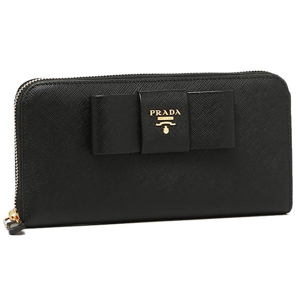 b9bdc484aeb9 Prada wallet Lady's PRADA 1ML506 ZTM F0002 SAFFIANO FIOCCO long wallet NERO  ...