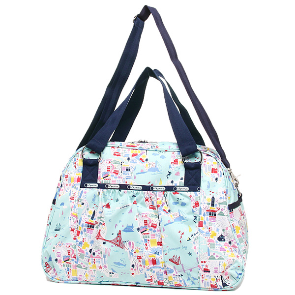 resupotosakkubaggu LESPORTSAC 8109 D840 ABBEY CARRY-ON宽底旅行皮包女士SEASIDE TRAVEL