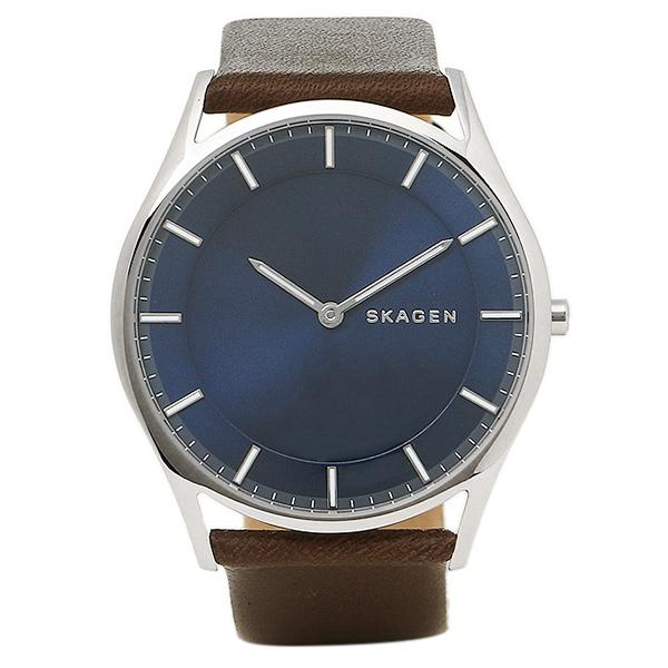 【4時間限定ポイント10倍】スカーゲン 時計 SKAGEN SKW6237 HOLST ホルスト メンズ腕時計 ウォッチ ブル-/シルバ-/ブラウン