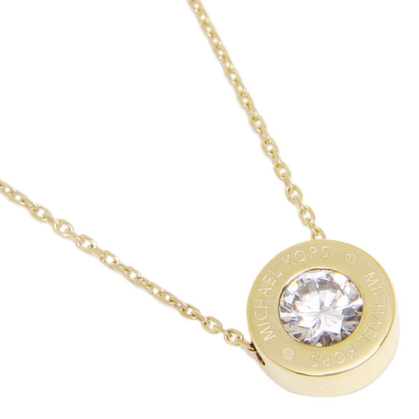 necklace in lyst product jewelry michael metallic kors silver padlock pendant gold normal