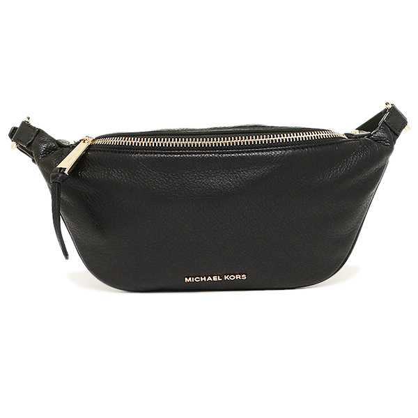 迈克尔套餐包MICHAEL KORS 30T6GEZN1L 001 RHEA ZIP BELT BAG SOFT VENUS身体包腰身门BLACK
