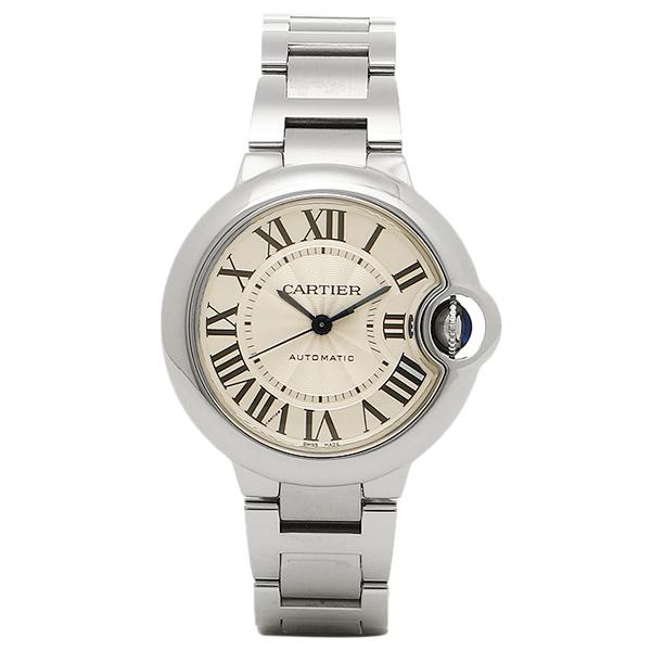 【72時間限定ポイント10倍】カルティエ 時計 レディース CARTIER W6920071 バロンブルー SS腕時計ウォッチ シルバー/ホワイト