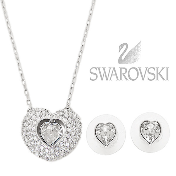 Brand shop axes rakuten global market swarovski pendant swarovski swarovski pendant swarovski 5188277 enjoy set necklace pierced earrings set ladys crystalsilver aloadofball Image collections