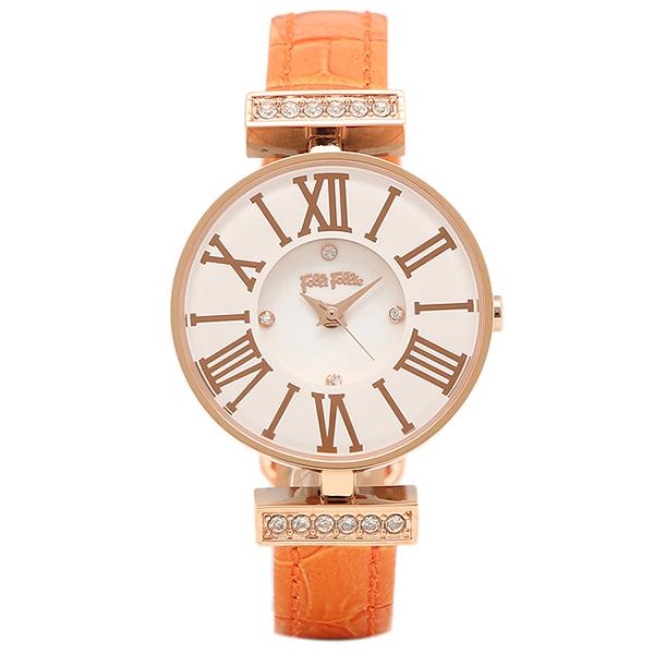 【6時間限定ポイント10倍】【返品OK】フォリフォリ 腕時計 FOLLI FOLLIE WF13B014SSW OR MINI DYNASTY レディース腕時計ウォッチ ホワイト/ローズゴールド/オレンジ