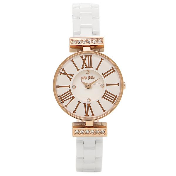 【6時間限定ポイント10倍】【返品OK】フォリフォリ 腕時計 FOLLI FOLLIE WF15B028BSZ XX MINI DYNASTY WINTER DREAM レディース腕時計ウォッチ ホワイト/ローズゴールド