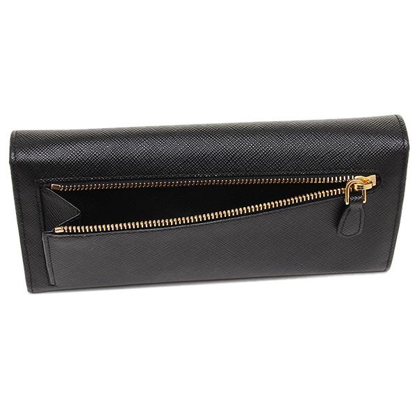 8a7be3d9e040 ... Prada wallet Lady's PRADA 1MH132 QWA F0002 SAFFIANO METAL ORO long  wallet NERO ...