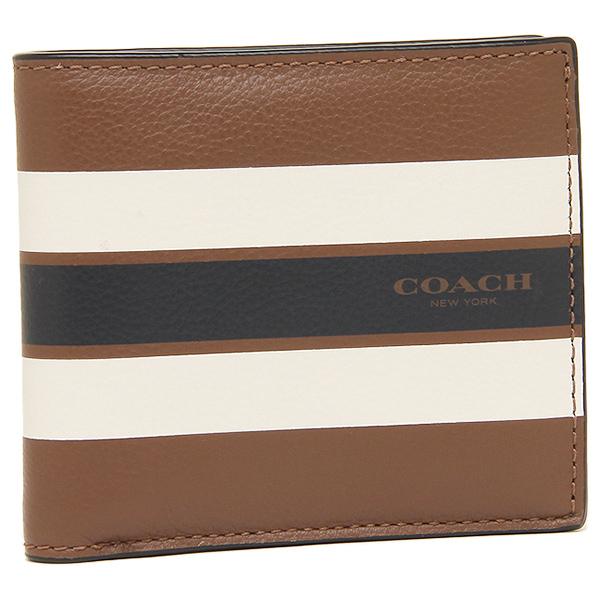 코치 맨즈 반접기 지갑 아울렛 COACH F75394 CWH 브라운 멀티