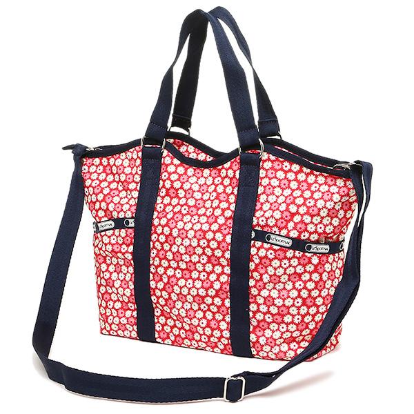 Lesportsac Bag 9811 D842 Small Carryall 2 Way Travel Daisy Red