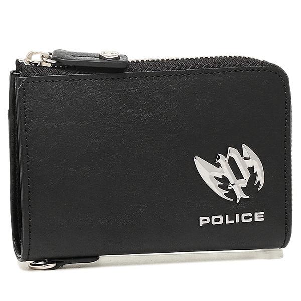 【4時間限定ポイント5倍】ポリス 財布 POLICE PLC123 ブローチ メンズ 二つ折り財布 BLACK
