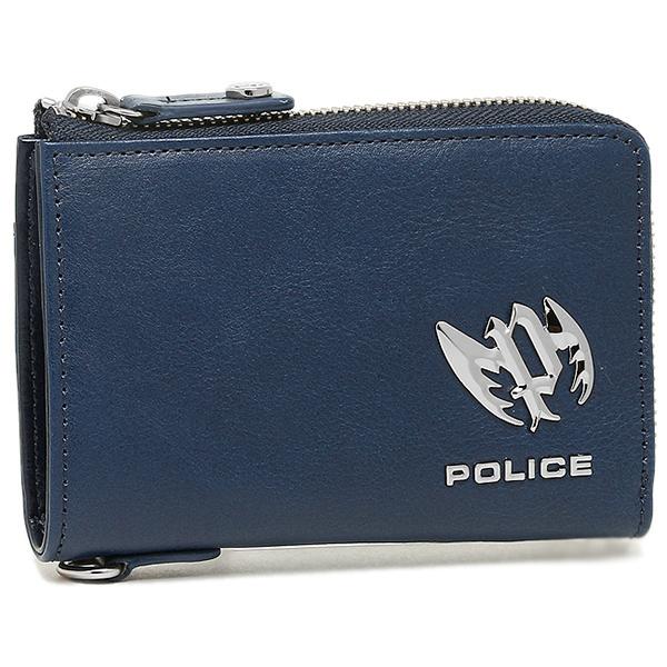 【2時間限定ポイント10倍】ポリス 財布 POLICE PLC123 ブローチ メンズ 二つ折り財布 BLUE