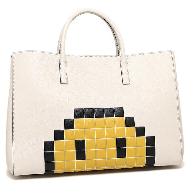 7ae762c55561 アニヤハインドマーチバッグ ANYA HINDMARCH 5050925922258 EBURY MAXI PIXEL SMILEY pixel smiley  tote bag CHALK