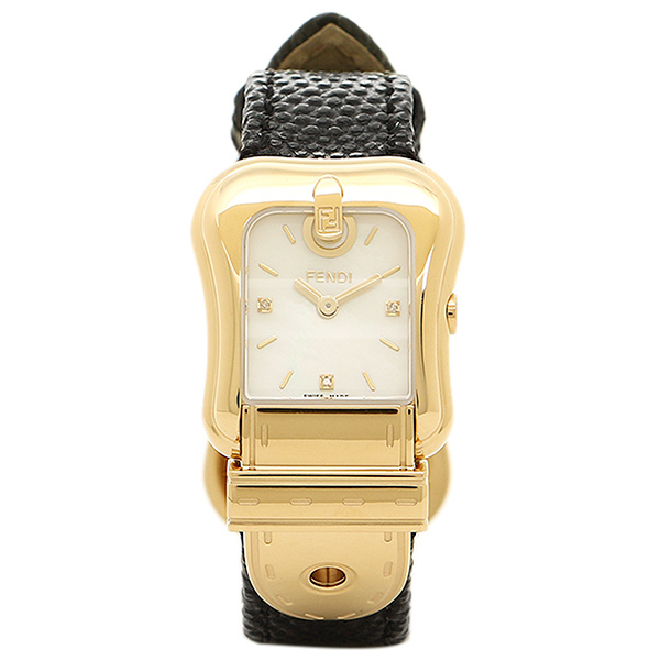 フェンディ 時計 レディース FENDI F382424511D1 Bフェンディ クォーツ腕時計ウォッチ ブラック/ゴールド/ホワイト