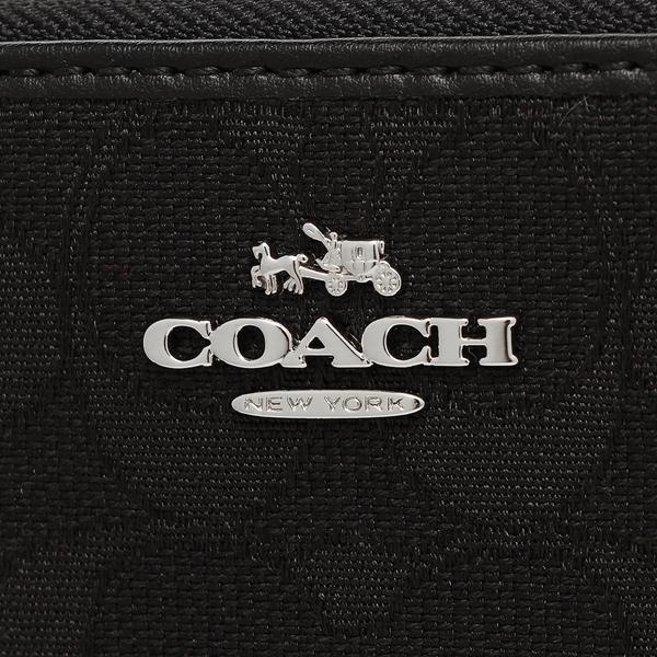 教练COACH长钱包奥特莱斯F54633 SBKBK银子黑色