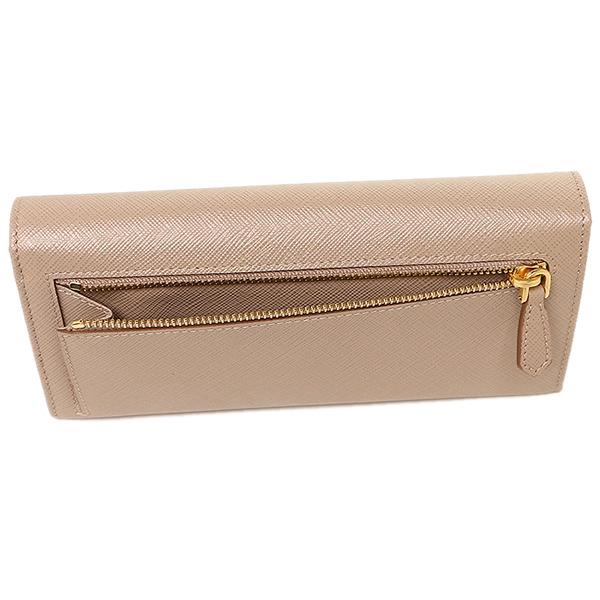 234301ca5b9 ... Prada wallet Lady's PRADA 1MH132 QWA F0770 SAFFIANO METAL long wallet  CAMMEO ...