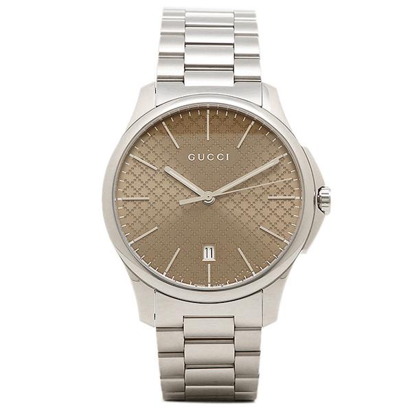 【2時間限定ポイント10倍】グッチ 時計 GUCCI YA126317 G-タイムレス メンズ腕時計 ウォッチ ブラウン/シルバー
