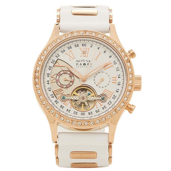 【返品OK】ゾンネ 腕時計 SONNE H016PGZ WH ハオリ HAORI 自動巻き メンズ腕時計 ウォッチ ホワイト/ピンクゴールド
