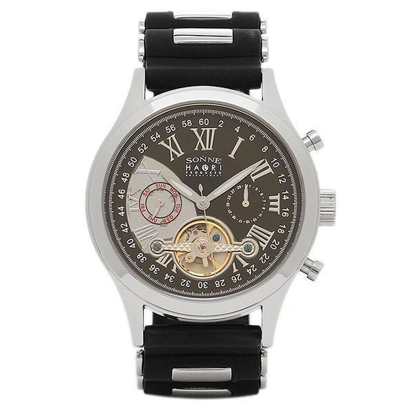 【返品OK】ゾンネ 時計 SONNE H016SS BK ハオリ HAORI 自動巻き メンズ腕時計 ウォッチ ブラック/シルバー