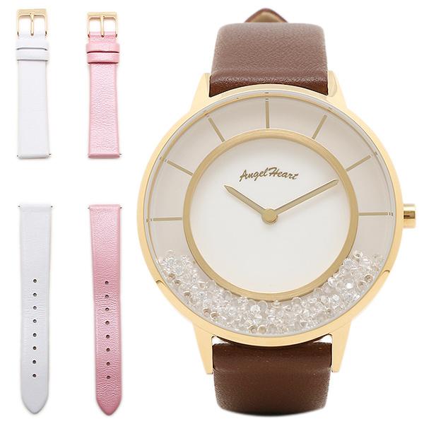 【返品OK】エンジェルハート 腕時計 ANGEL HEART LG36Y-BR ラブグリッター レディース腕時計ウォッチ ホワイト
