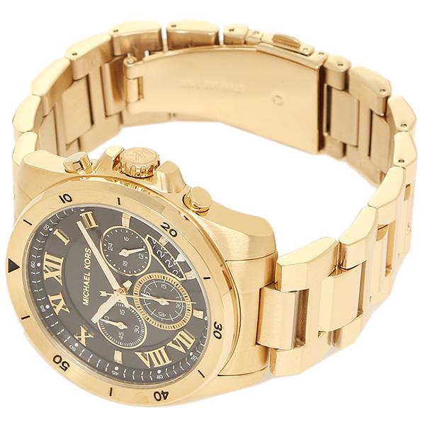 f1c16b50ce24 Michael Kors watch men MICHAEL KORS MK8481 BRECKEN ブレッケンメンズ watch watch  black   gold