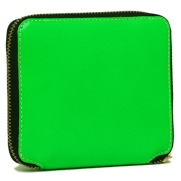 콤 데 걀슨 지갑 COMME des GARCONS SA2100SF SUPER FLUO ZIP AROUND SMALL WALLET 반접기 지갑 GREEN