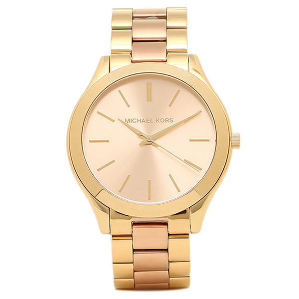09f450997662 Michael course watch MICHAEL MICHAEL KORS MK3493 SLIM RUNWAY slim runway  ladies Watch Gold