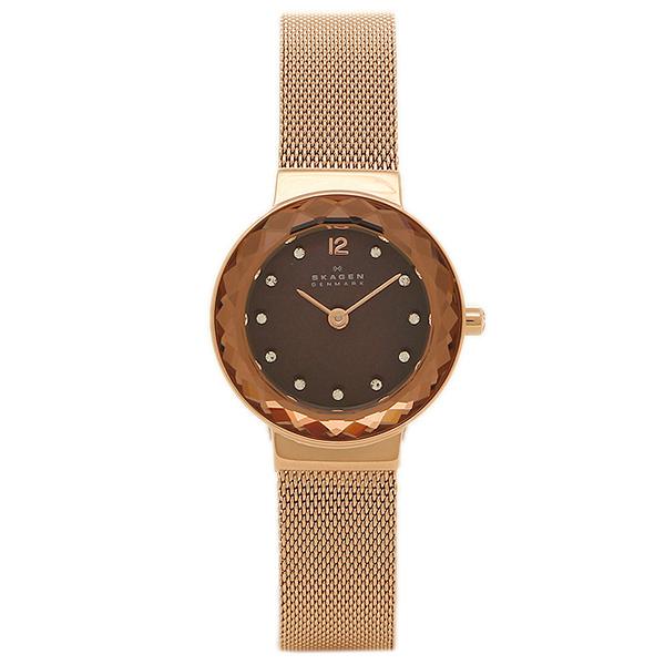 【4時間限定ポイント5倍】スカーゲン 時計 SKAGEN 456SRR1 STEEL スチール レディース腕時計ウォッチ ブラウン/ピンクゴールド