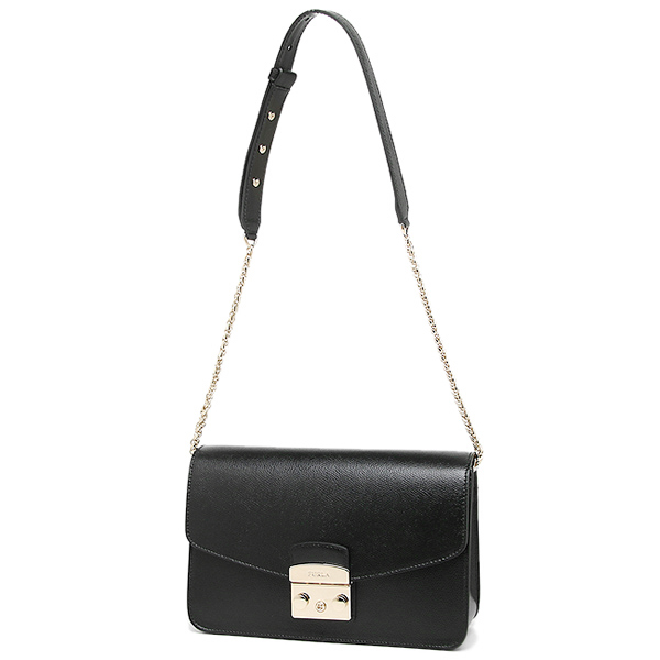 FURLA bag FURLA 835155 BHV7 o50 metropolis METROPOLIS S SHOLDER BAG  shoulder bag ONYX 6ed4ec50b4f92