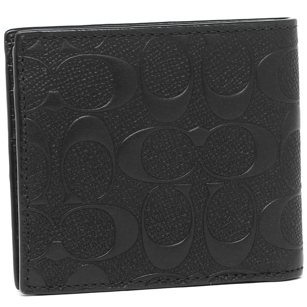 코치 반접기 지갑 아울렛 COACH F75363 BLK 블랙