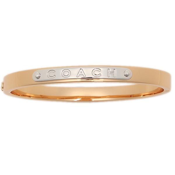 Coach Bracelet Outlet F54565 Rgd Hinged Bangle Rose Gold