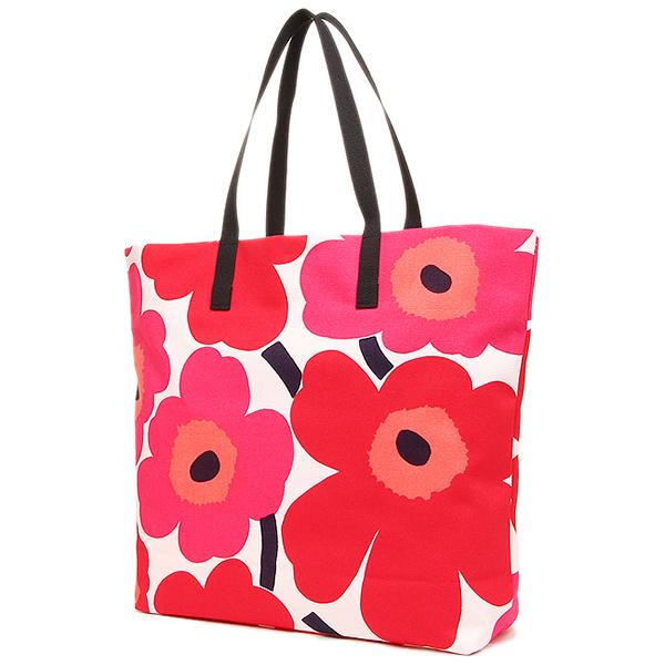 Marimekko Bags 043461 001 Silja Unikko Tote Bag White Red