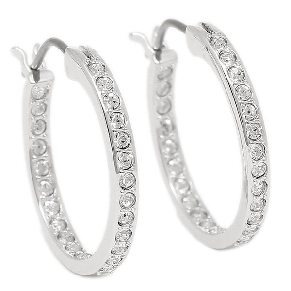 Swarovski Pierced Earrings 1172374 Somerset Hoop Rhs S Silver