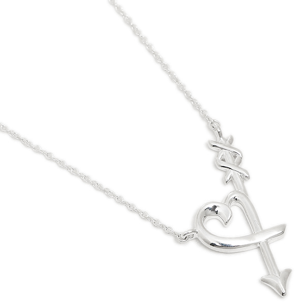 1c32bf773 Tiffany necklace TIFFANY &Co. 36343206 Paloma Picasso loving heart Alor  arrow pendant silver ...