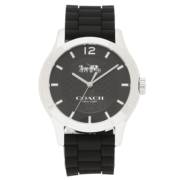 腕時計 BLK ブラック アウトレット W6033 14502217 レディース 【4時間限定ポイント10倍】コーチ シルバー COACH