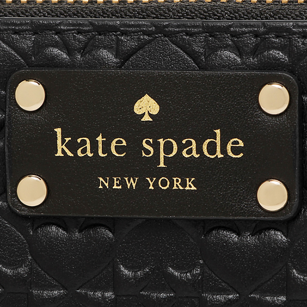 케이트 스페이드장 지갑 아울렛 KATE SPADE WLRU2517 001 레이디스 블랙
