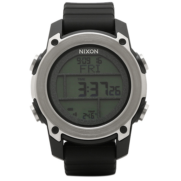 brand shop axes rakuten global market nixon watch nixon a962000 nixon watch nixon a962000 the unit dive unit dive mens watch watch black silver