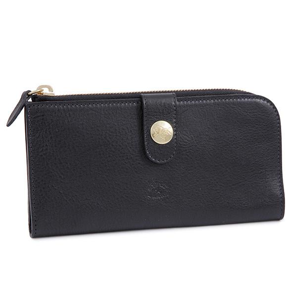 イルビゾンテ IL BISONTE 財布 レディース/メンズ C0782-MP 153 長財布 BLACK