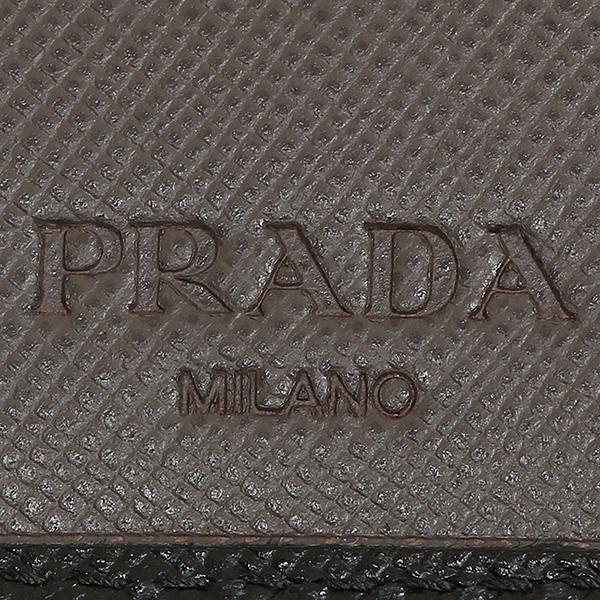 프라다 지갑 PRADA 2 MO738 2 E26 F0996 SAFFIANO BICOLO 맨즈 반접기 지갑 NERO/GRAFITE