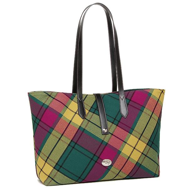 Vivienne Westwood Bag 7080 Borsa Toulon Tessuto Pelle Tote Wool Tartan Mac Millan