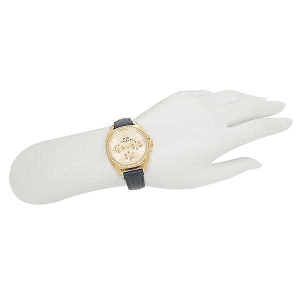 코치 손목시계 COACH 14502124 블루 골드