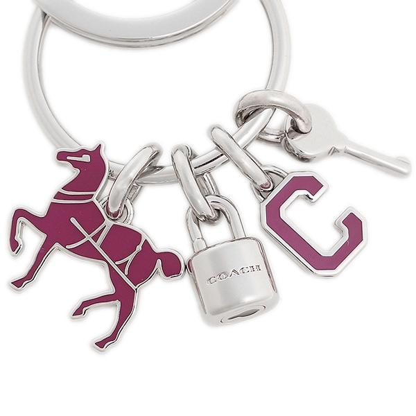 코치 키 링 COACH F65167 SV/FX Key Chain 시르바후크시아핀크
