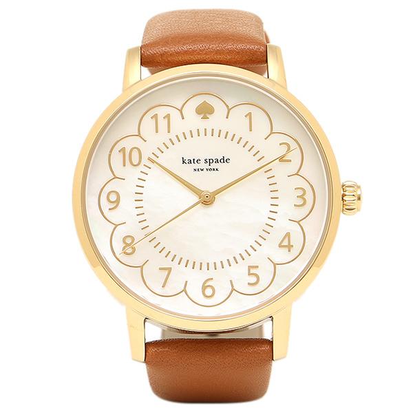 【24時間限定ポイント5倍】ケイトスペード 腕時計 レディース ホワイトパール ブラウン 1YRU0835