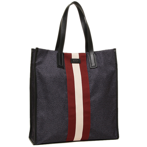 巴里包BALLY 6207915 STRIPE NYLON TOTE BAG RAAMI人大手提包INK