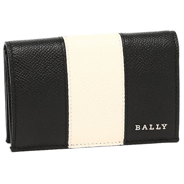 【24時間限定ポイント5倍】バリー カードケース BALLY 6207964 LETTERING STRIPE BOLD LERYT BOLD 名刺入れ BLACK