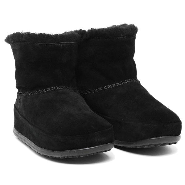 【6時間限定ポイント5倍】フィットフロップ ブーツ fitflop 630 090 MUKLUK SHORTY ブーツ BLACK