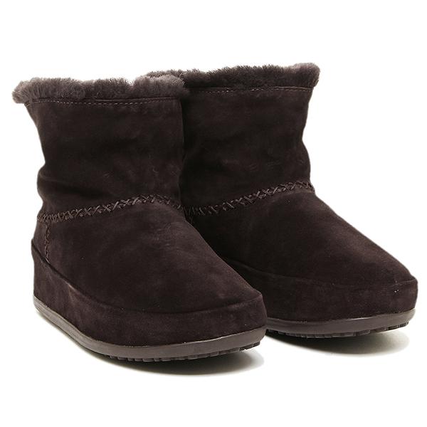 【24時間限定ポイント5倍】フィットフロップ ブーツ fitflop 630 092 MUKLUK SHORTY ブーツ DARKBROWN