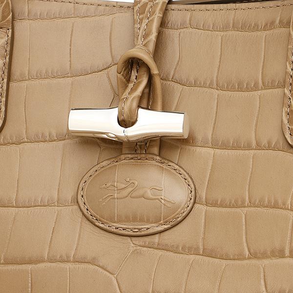 론샨 가방 LONGCHAMP 레이디스 1681 858 484 로조크로코 ROSEAU CROCO TOP HANDLE BAG 핸드백 GREIGE
