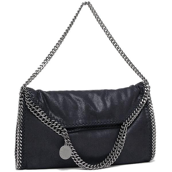 Steramaccatney bag STELLA McCARTNEY 234387 W9132 4061 FALABELLA FALABELLA SHAGGY  DEER FOLD shoulder bag NAVY SILVER 295045f070854