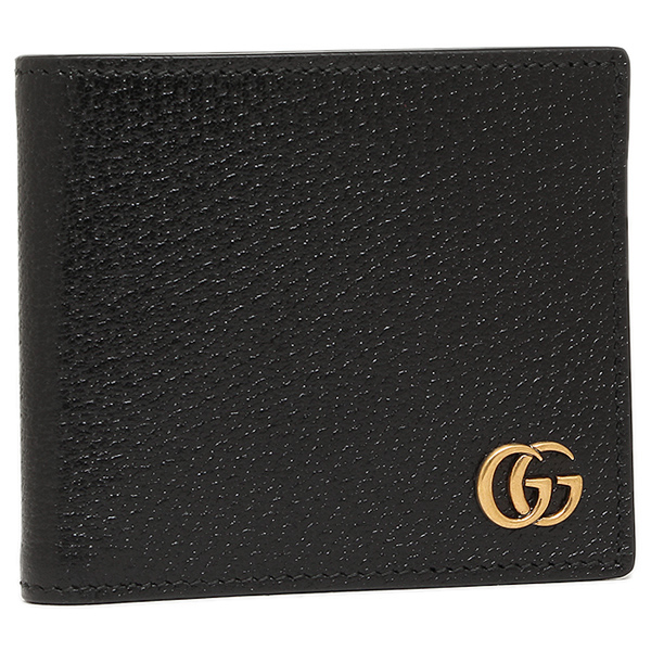 a2b0cd5a7a71 Gucci wallet GUCCI 428725 DJ20T1000 GG Marmont MARMONT coin wallet men's  two fold wallet NERO ...