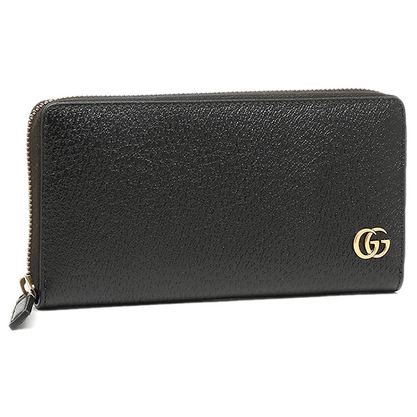 a0e800ee457936 Gucci wallet GUCCI 428736 DJ20T1000 GG Marmont MARMONT zip around wallet  men's long wallet NERO ...